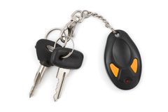 Car keys and remote control Stock Photo