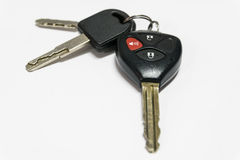 Car keys with remote control. Royalty Free Stock Photos