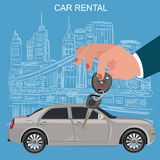Car keys and remote, rental concept, vector illustration Royalty Free Stock Photo