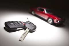 Car Keys and Sports Car Stock Image