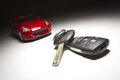 Car Keys and Sports Car Stock Photography