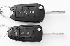 Car keys. View detail of some car keys Stock Images