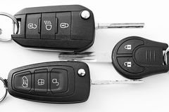 Car keys. View detail of some car keys royalty free stock image