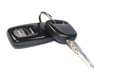 Car keys. On a white background royalty free stock photography