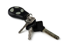Car keys. On a white background Stock Photos