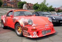 Red Porsche Stock Photo