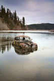 Car in lake. Royalty Free Stock Photos