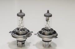 Car lamp. European model h4 p43t, similar US bulb: HB2 9003 on white background Stock Photo