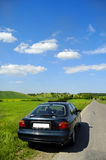 Car and landscape Royalty Free Stock Photo
