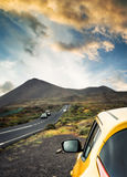 Car and landscape Stock Images