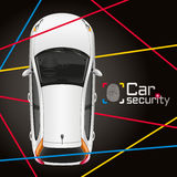 Car Laser Security. Protection of the car a modern security system Stock Photo