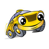 Car with a laughing face. Taxi. Royalty Free Stock Photos