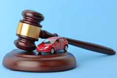 Car law. Theme of driving and the law Royalty Free Stock Photos