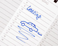 Car lease appointment stock photos