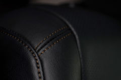 Car leather background. Interior detail. Macro photo Stock Image