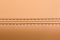 Car leather background with stich. Royalty Free Stock Image
