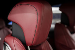 Car leather headrest. Stock Images