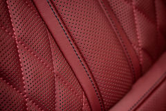 Car leather interior background. Royalty Free Stock Photography