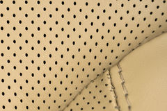 Car leather. Interior detail. Macro photo Stock Image
