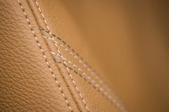 Car leather material. Royalty Free Stock Photography