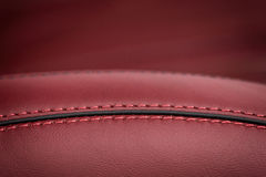 Car leather seat. Royalty Free Stock Photo