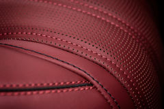 Car leather seat. Royalty Free Stock Images