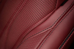 Car leather seat part. Royalty Free Stock Photo
