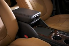 Car Leather Seats Stock Photography