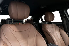 Car leather seats. Stock Photo