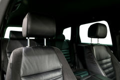 Car leather seats. Royalty Free Stock Image