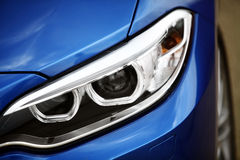 Car LED headlight. Detail on one of the LED headlights of a car Royalty Free Stock Photography