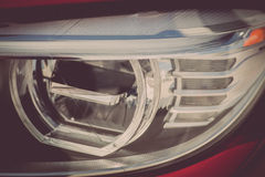Car LED headlight. Detail on one of the LED headlights of a car Stock Images