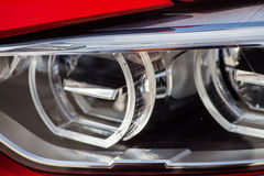 Car LED headlight. Detail on one of the LED headlights of a car Stock Photos