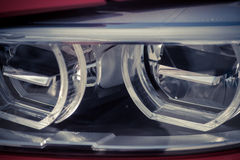 Car LED headlight. Detail on one of the LED headlights of a car Stock Photography