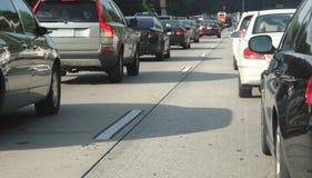 Car level traffic jam. Stock Photo