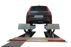 Car on the lift Royalty Free Stock Images