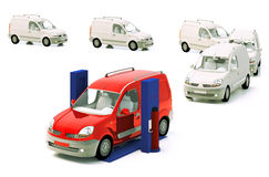 Car lift. Vehicle line to car lift stock illustration
