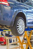 Car on lift Stock Photo