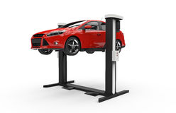Car lifting on a white background Stock Photography