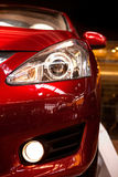 Car light. Red sports car  front view Stock Image