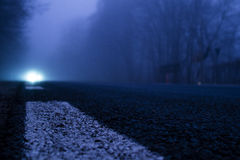 Car Light Into Darkness Royalty Free Stock Image