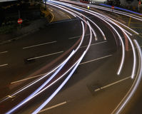 Car light trace Stock Images