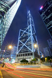 Car light trail in Hong Kong. At night Royalty Free Stock Image
