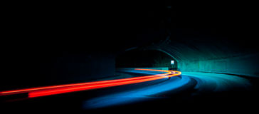 Car light trails Stock Images