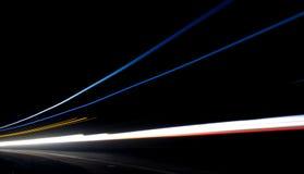 Car light trails royalty free stock photos