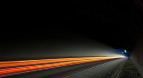 Car light trails stock images