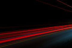 Car light trails Royalty Free Stock Image