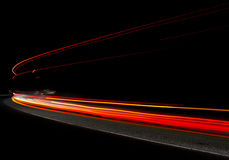 Car light trails Royalty Free Stock Photo
