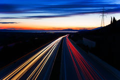 Car light trails Royalty Free Stock Images