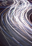 The car light trails Stock Photo